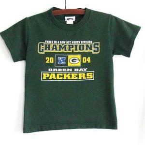 Youth Green Bay Packers T Shirt 4/5 Kids
